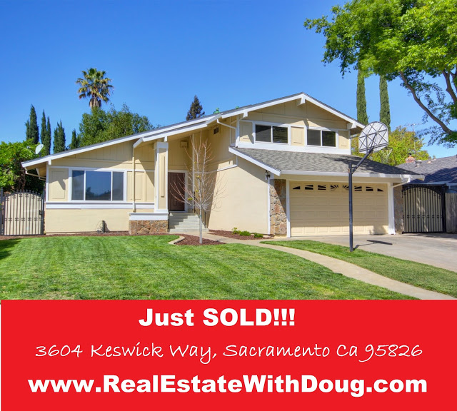 JUST SOLD – 3604 Keswick Way, Sacramento, CA 95826 – www.RealEstateWithDoug.com – Doug Reynolds Real Estate