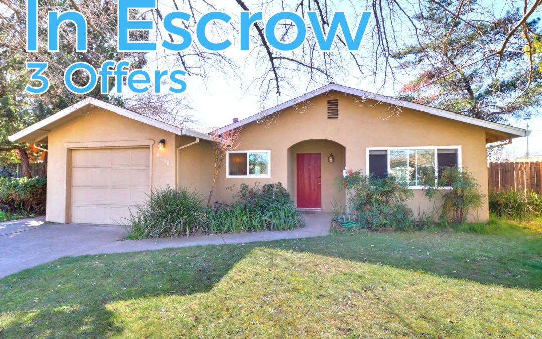 In Escrow – 8538 Everglade Dr, Sacramento, CA 95826