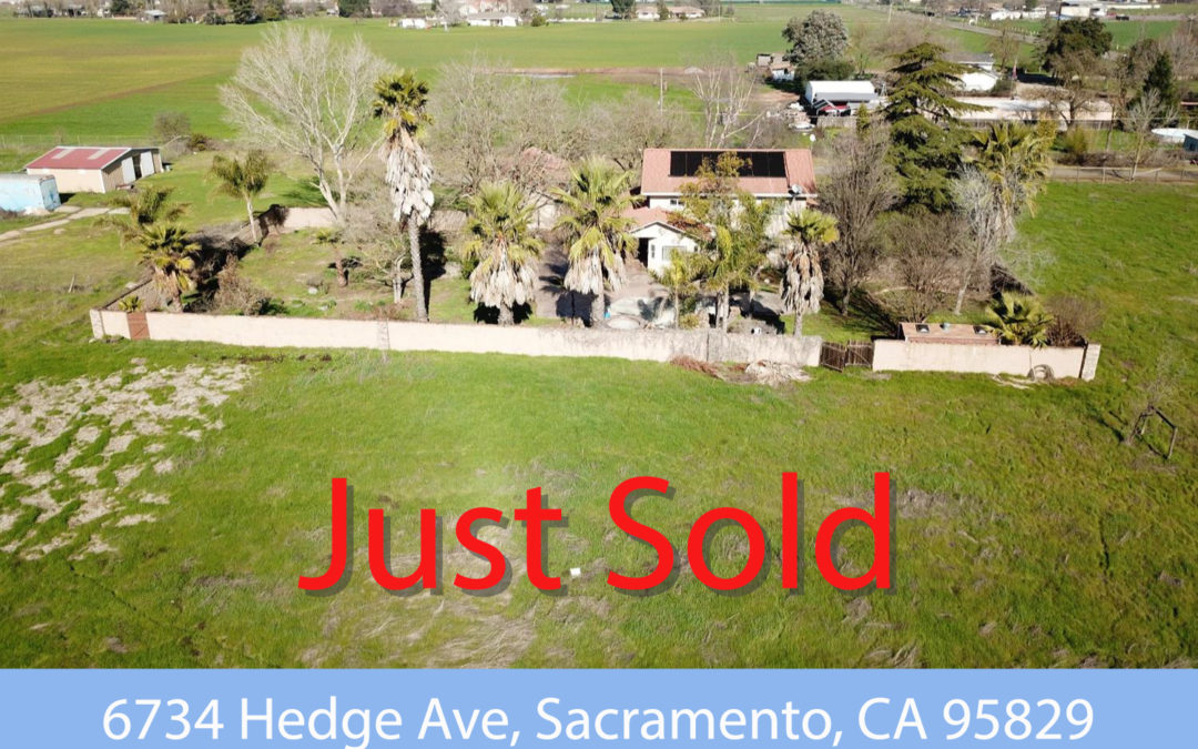 Just Sold – 6734 Hedge Ave, Sacramento, CA 95829