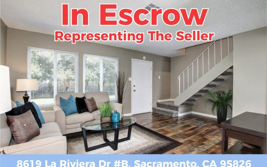 In Escrow – 8619 La Riviera Dr #B, Sacramento CA 95826