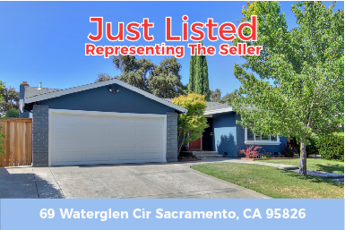 JUST LISTED FOR SALE – 69 Waterglen Cir Sacramento, CA 95826