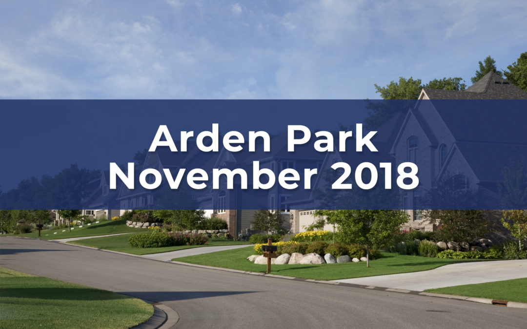 Arden Park Neighborhood November 2018 Update