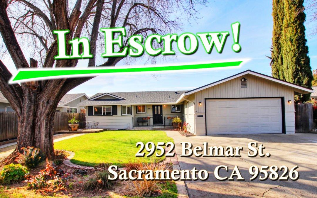 In Escrow – 2952 Belmar Street, Sacramento, CA 95826