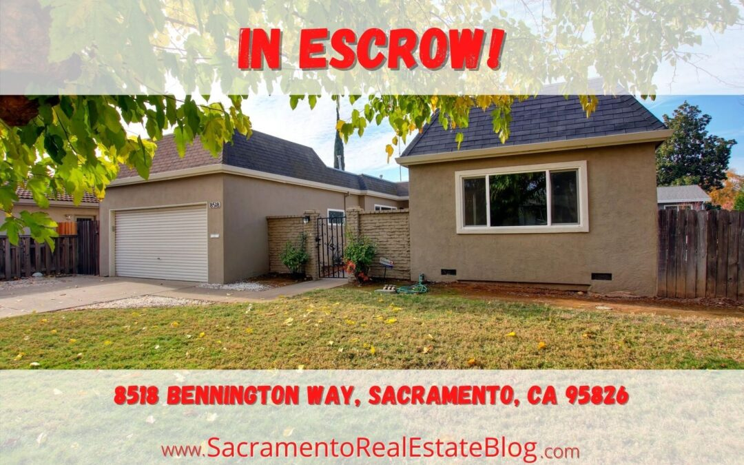 In Escrow -8518 Bennington Way, Sacramento