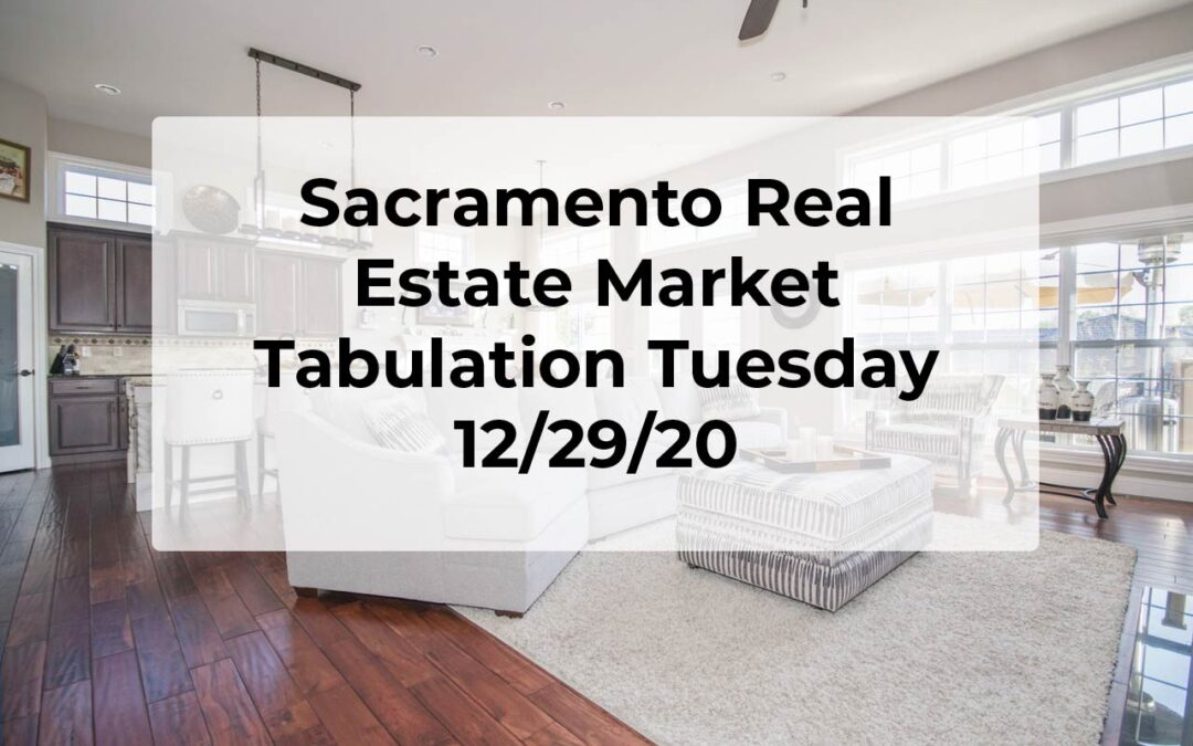 Sacramento Real Estate – Tab Tuesday 12/29/20